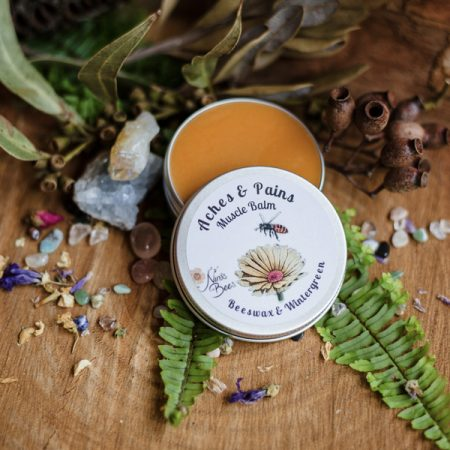 All Natural Aches & Pains Muscle Balm with Beeswax and Wintergreen