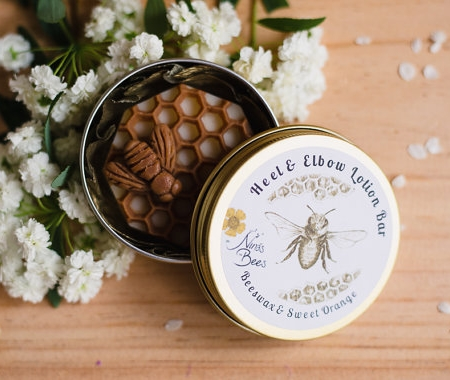 All Natural Beeswax Heel & Elbow Lotion Bar