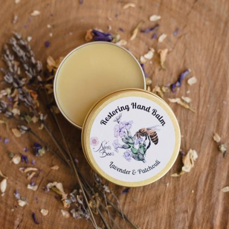 All Natural Restoring Beeswax Hand Balm with Lavender and Patchouli