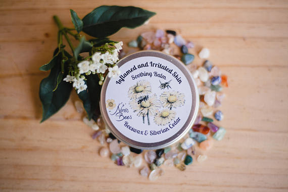 All Natural Soothing Balm for Inflamed and Irritated Skin with Beeswax and Siberian Cedar