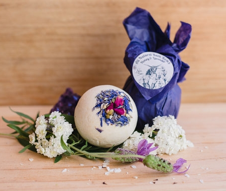 All Natural Honey & Lavender Bath Bomb