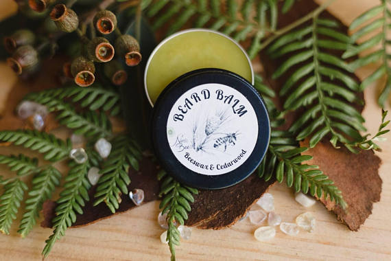 All natural Beard balm with beeswax and cedarwood