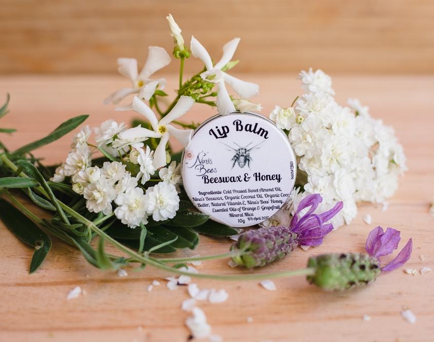 nina's bees botanical lip gloss