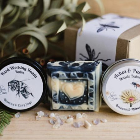 Men's Gift Pack with Muscle Balm, Hand Balm and Charcoal Soap