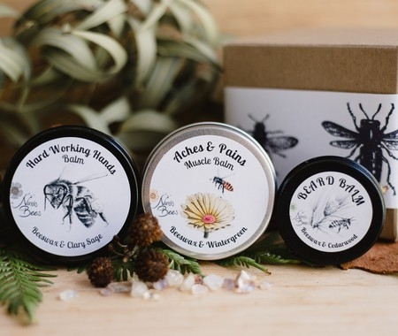Men's Gift Pack with Muscle Balm, Hand Balm and Beard Balm