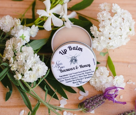 Lip balm natural beeswax honey