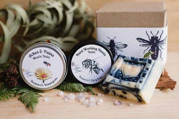 Muscle balm, Hand balm and charcoal soap