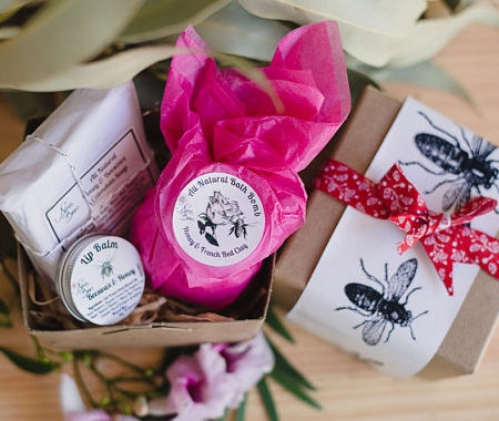 Beautiful Spa Gift Pack with Artisan Soap, Bath Bomb of your choice and Lip Balm